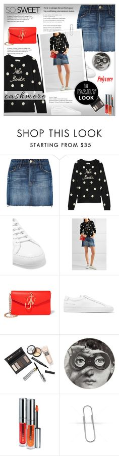 """Cozy Cashmere Sweaters!"" by alves-nogueira ❤ liked on Polyvore featuring Frame Denim, Chinti and Parker, Common Projects, J.W. Anderson, Borghese, Fornasetti, By Terry, polkadot, contestentry and polyvoreeditorial"