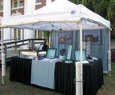 booth at Oatland Island | by kathrynriechert   - use hook/ clips with tarp for backing