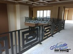 Modern Interior Railing Gallery All - Artistic Iron Works - Ornamental Wrought Iron Specialists Loft Railing, Balcony Railing Design, Iron Stair Railing, Stairs Handle, Interior Railings, Modern Interior, Interior Design, Home Decor Furniture, Ladders