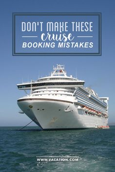 Don't make these cruise booking mistakes - tips from the experts to get the best cabin and more