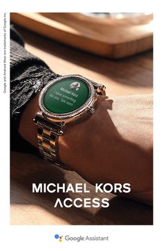 Meet the Sofie, fashion's last word in wearable tech. Personalize the touchscreen display face to match your mood, receive updates from your social circle, track your fitness goals and more. Get brains and beauty with the Michael Kors Sofie Smartwatch, featuring the Google Assistant.