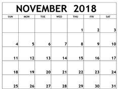 printable calendar november 2018 - This calendar ideas concepts was post at by printable November Printable Calendar, 2018 Calendar Template, Excel Calendar, Calendar 2018, Calendar Ideas, Calendar Wallpaper, Printables, Pdf, Print Templates