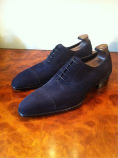G Deco Cliffe - Navy Suede