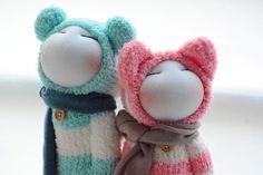 boy friend & girl friend~sock dolls