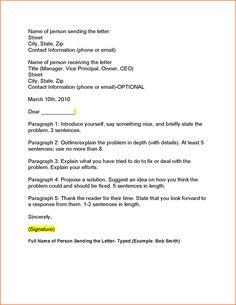 business letter outline