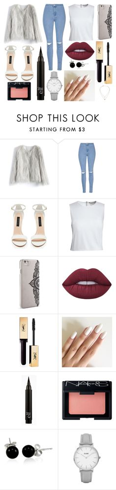 """Dinner"" by susanna-trad on Polyvore featuring Chicwish, Glamorous, Canvas by Lands' End, Nanette Lepore, Lime Crime, NARS Cosmetics, Bling Jewelry, Topshop and Michael Kors"