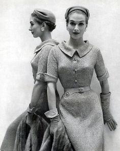 Circa 1950s - I need a seamstress!  I would LOVE to own such a dress!