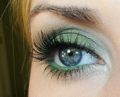 Green eye make up tutorial