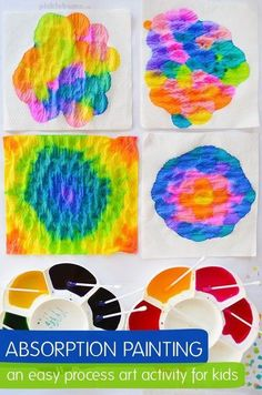Absorption painting - a super easy process art activity for kids