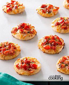 Mini Margherita Pizzas #recipe