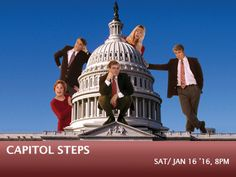 Sat, Jan. 16, 2016 at 8 p.m.  Count on one thing this election year—a zillion fresh zingers of up-to-the-minute musical parodies that skewer both sides of the aisle, while leaving the audience rolling in it, laughing!