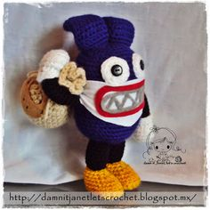 damn it Janet, let's crochet!: Nabbit from Super Mario Bros. U Free Crochet Pattern! Mario Crochet, Free Crochet, New Super Mario Bros, Super Mario Brothers, Mario Bros., Mario And Luigi, Yarn Projects, Crochet Projects, Crochet Ideas