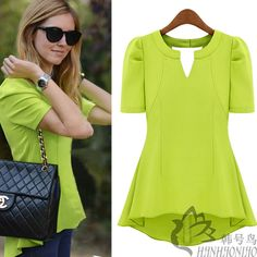 Cheap Blouses & Shirts on Sale at Bargain Price, Buy Quality blouses summer, chiffon ruffle blouse, chiffon lace blouse from China blouses summer Suppliers at Aliexpress.com:1,Pattern Type:Solid 2,Combination form:separate sleeve type 3,Sleeve Length:Short 4,Fabric Type:Chiffon 5,Clothing Length:Short