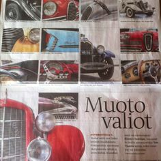 Nice details from various cars in Helsingin Sanomat on Feb18th.