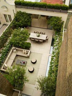 terrasses et jardins avec salon cosy de ville par Bowleswyer Garden