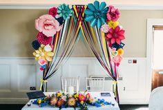Wedding paper flower arch