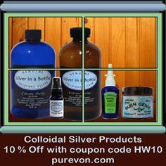 Purevon Silver in a Bottle Colloidal Silver