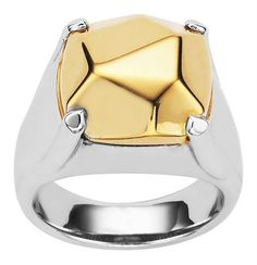 yellow gold and sterling silver Karen Walker Rock ring Jewelry Model, Modern Jewelry, Jewellery Shop Design, Rock Rings, Rings N Things, Party Rings, Karen Walker, Diamond Are A Girls Best Friend, Jewelry Collection