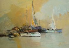 "Saatchi Art Artist Andres Vivo; Painting, ""4132  Ketch and Yawls"" #art"