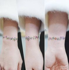 Flower Bracelet Tattoo Artist: Tattooist Banul Seoul, Korea