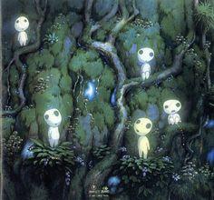 """The Kodamas - """"Princess Mononoke"""" Studio Ghibli"""