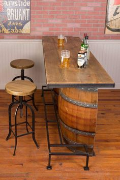 Rustic Basement Bar, Basement Bar Designs, Home Bar Designs, Small Basement Bars, Finished Basement Bars, Home Wine Bar, Diy Home Bar, Home Pub, Bar Interior