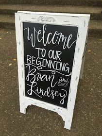 Wedding Chalkboard Signs. Welcome to our beginning