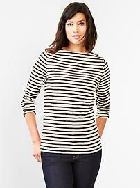 Stripe boatneck tee