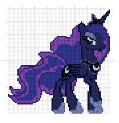 Princess Luna pattern by ~Stinnen on deviantART
