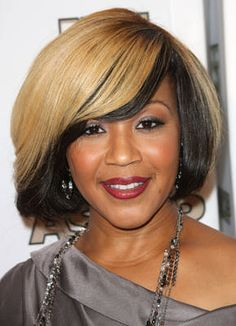 Erica Campbell's Two-Toned Bob