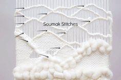 DIY soumak stitch tutorial | DIY wavy weaving techniques