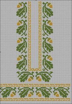 Fall Cross Stitch, Cross Stitch Heart, Cross Stitch Borders, Cross Stitch Flowers, Cross Stitch Designs, Cross Stitching, Cross Stitch Embroidery, Embroidery Patterns, Cross Stitch Patterns