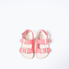 BUCKLED SANDALS WITH HOOK AND LOOP CLOSURE-SHOES-BABY GIRL | 3 months-3 years-KIDS | ZARA United States
