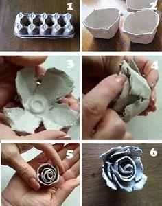 Beschrijving hoe maken roosjes eierdoos!