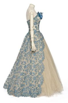 balmain evening dress. 1950-59 http://fripperiesandfobs.tumblr.com/