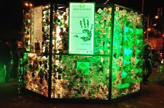 Beautiful lit up by #solar #energy.. #Installation from #waste