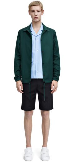 Tony cotton skate green cotton coach jacket #AcneStudios #menswear #SS15