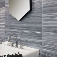 Milan Gray Honed l Honed Marble Tile Marble Tile Bathroom, Marble Look Tile, Man Bathroom, Honed Marble, Bathroom Flooring, Master Bathroom, Tile Accent Wall, Wall Tiles, Chevron Tile