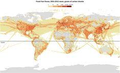 Map of global carbon emissions | FlowingData