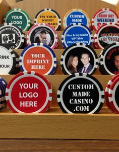 Custom Poker Chips as business promotions, wedding favors and Las Vegas Party, Vegas Theme, Casino Night Party, Casino Theme Parties, Custom Poker Chips, James Bond Party, Casino Royale Theme, Pokerface, Poker Party