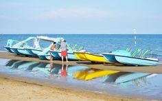 Mit dem Tretboot raus aufs Meer © Elisabeth Hotter Hotels, Strand, Beach Mat, Outdoor Blanket, Pedalo, Sunroom Playroom, Family Vacations