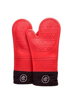 Silicone Oven Mitt - Heat Resistant - Kitchen Grilling Gloves - Easy to Clean - Soft Quilted Liner - Kitchen Aid - Attractive Colors - Make the Perfect Oven Recipe - Free Oven Recipe E-book included The Goods Life http://www.amazon.com/dp/B01BNVP74S/ref=cm_sw_r_pi_dp_qDSbxb1YE02JZ