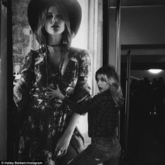 'Dats me!' Hailey groped her own photo excitedly at the Denim and Supply Ralph Lauren even...