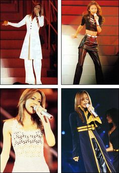 Mistio presents Namie Amuro Summer Stage 1997 Concentration 20 Tour. Japanese Fashion, Gorgeous Hair, Asian Beauty, Live Photos, Singer, Celebrities, Sexy, Music, Girls