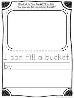 How Full Is Your Bucket? - reading response for beginning
