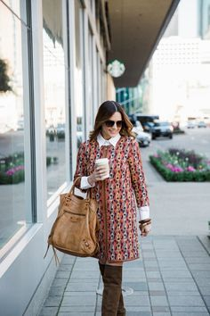 bringing 70s trends back in this W by Worth jersey dress/coat. check out two ways to wear it on the blog >> MY INNER FLOWER CHILD - HOUSE of HARPER HOUSE of HARPER