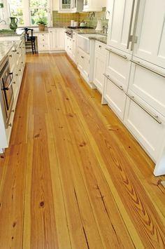 Pine Floors and Heart Pine Flooring from Carlisle Wide Plank Floors Canada Acacia Hardwood Flooring, Pine Wood Flooring, Hardwood Floors In Kitchen, Heart Pine Flooring, Wood Floor Kitchen, Wide Plank Flooring, Pine Floors, Kitchen Flooring, Wood Walls