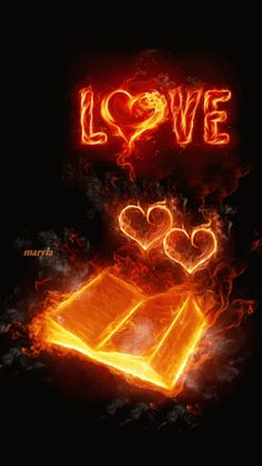 Love and Book Fire Gif The power of Jehovah's Holy Spirit and his unending Love for his children is highlighted continually in the Bible. Voir l'article pour en savoir plus. New moon love spells Images Gif, Love Images, Love Pictures, Beautiful Pictures, Heart Images, Heart Wallpaper, Love Wallpaper, Bisous Gif, Coeur Gif