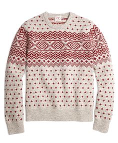 "<a href=""#pdplearnmore"" class=""lm"">The Red Fleece Collection</a><br>Crewneck made from pure wool. Geometric Fair Isle design with ribbed details at collar, cuffs and hem. Dry clean . Imported."