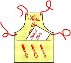 ✄ printable #templates.......Barbecue Apron Card from Mirkwood Designs